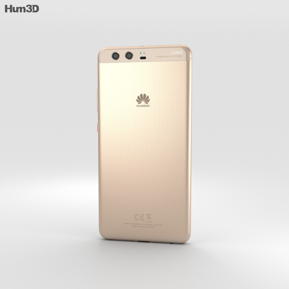 Huawei P10 Plus Dazzling Gold 3d model