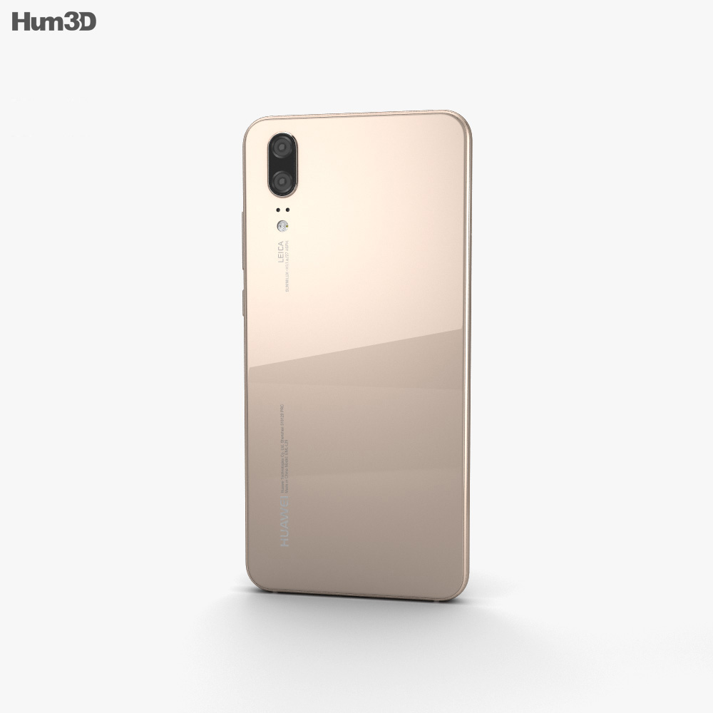 Huawei P20 Champagne Gold 3d model