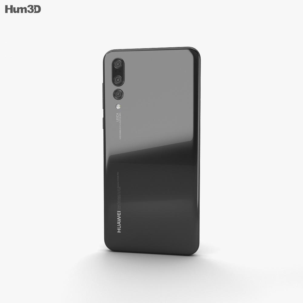 Huawei P20 Pro Black 3d model