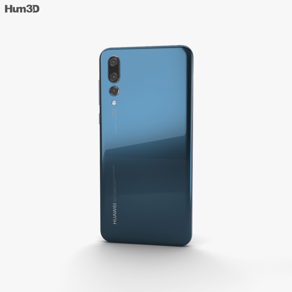 Huawei P20 Pro Midnight Blue 3d model