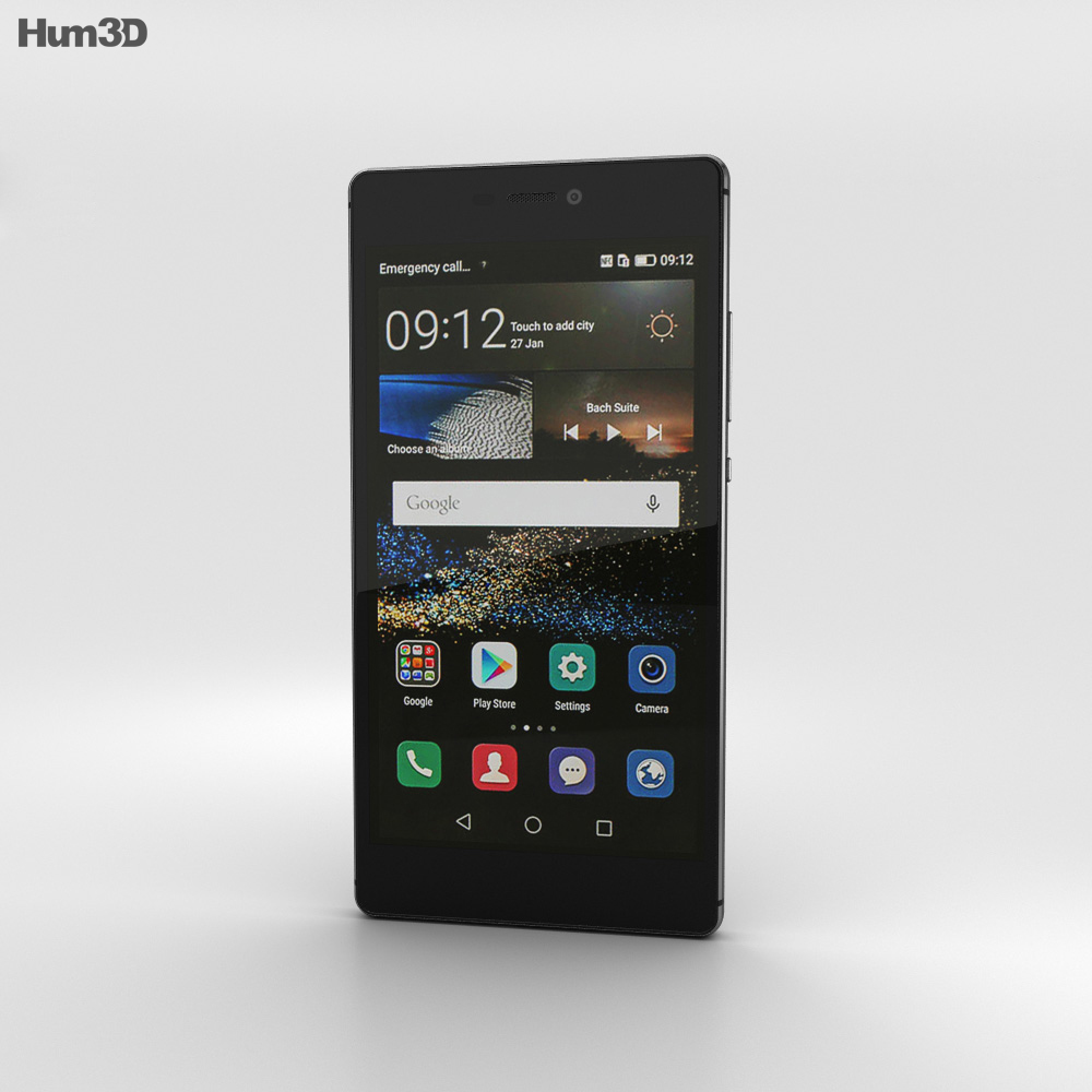 Huawei P8 Carbon Black 3d model