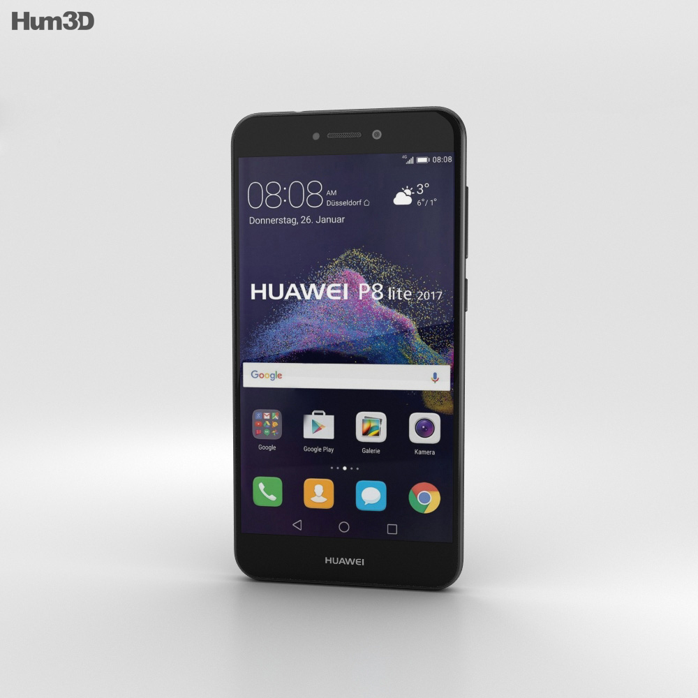 Huawei P8 Lite (2017) Black 3d model