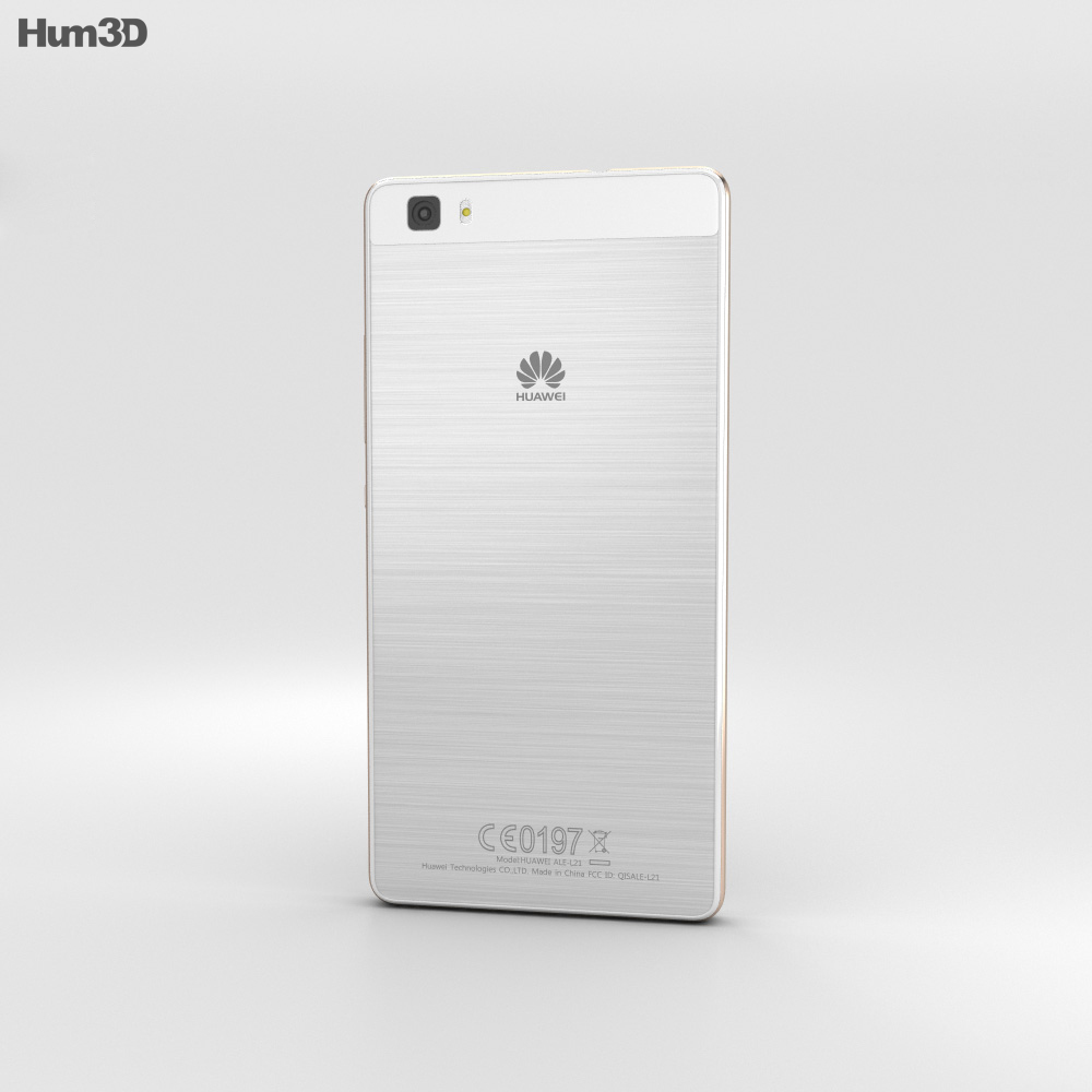 Huawei P8 Lite White 3d model