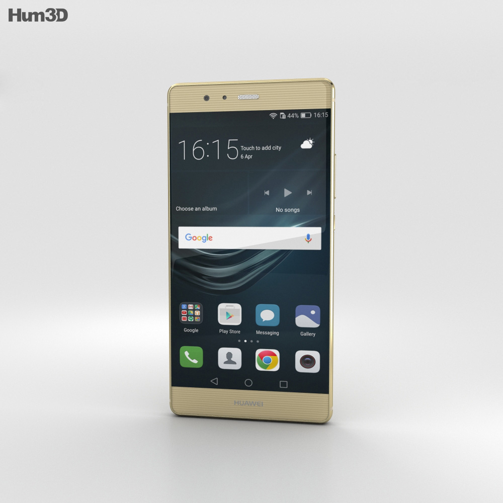 Huawei P9 Plus Haze Gold 3d model