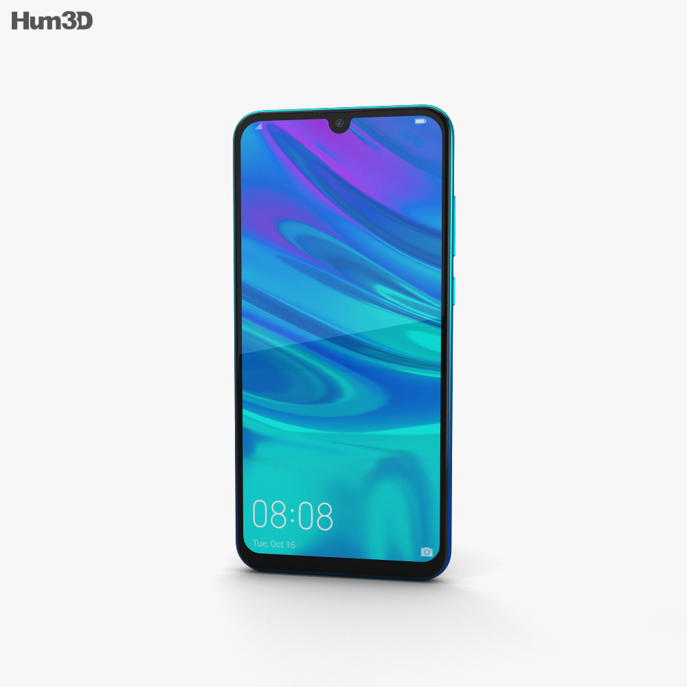 Huawei P Smart (2019) Aurora Blue 3d model