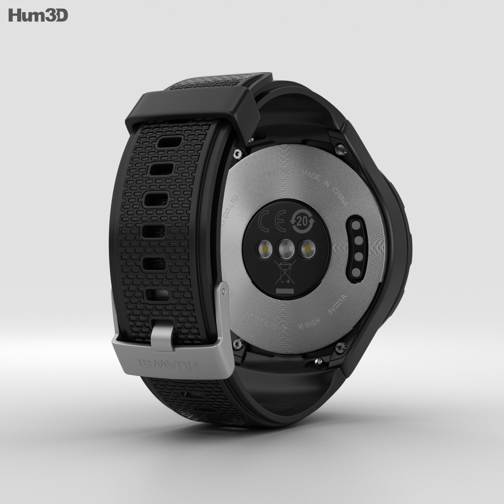 Huawei Watch 2 Carbon Black 3d model