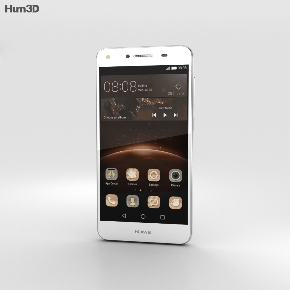 Huawei Y5II Arctic White 3d model