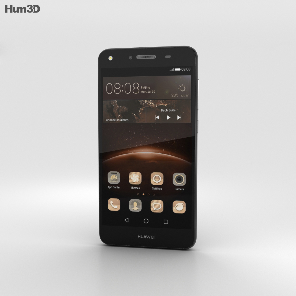 Huawei Y5II Obsidian Black 3d model