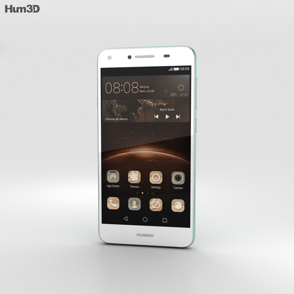 Huawei Y5II Sky Blue 3d model
