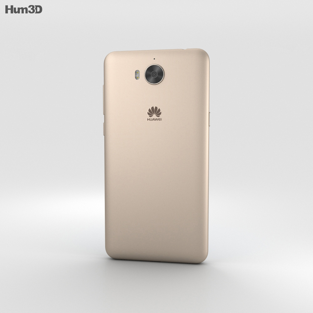 Huawei Y6 Gold 3d model