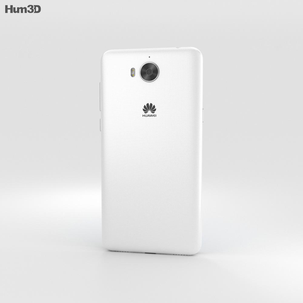 Huawei Y6 White 3d model