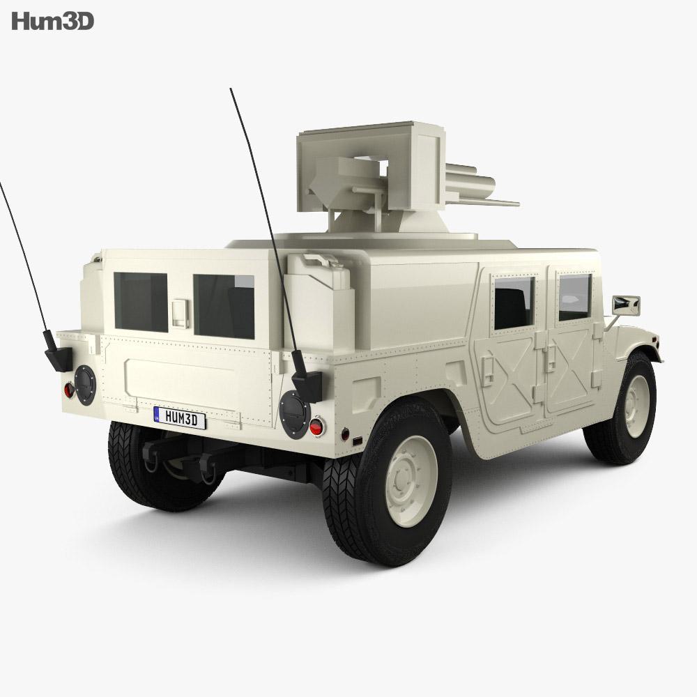 Hummer M242 Bushmaster 2011 3d model