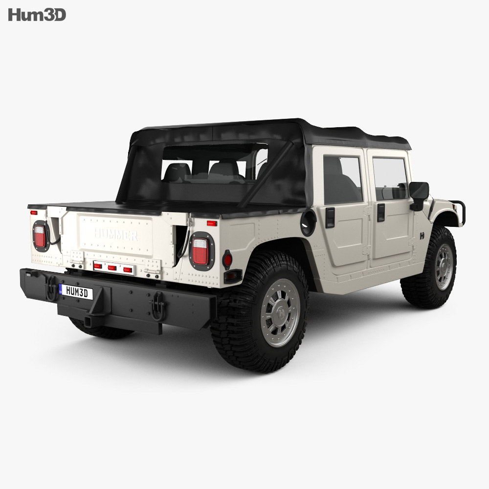 Hummer H1 pickup 2005 3d model