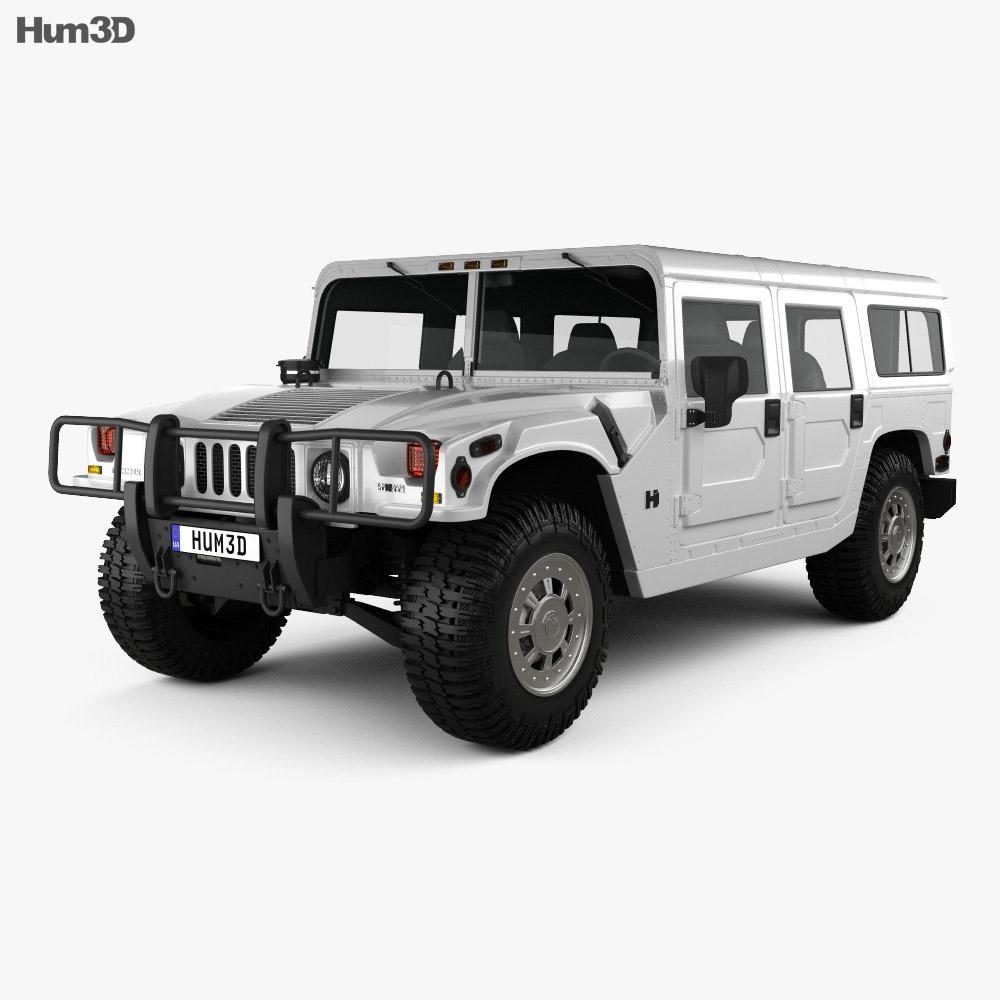 Hummer H1 wagon 2005 3d model