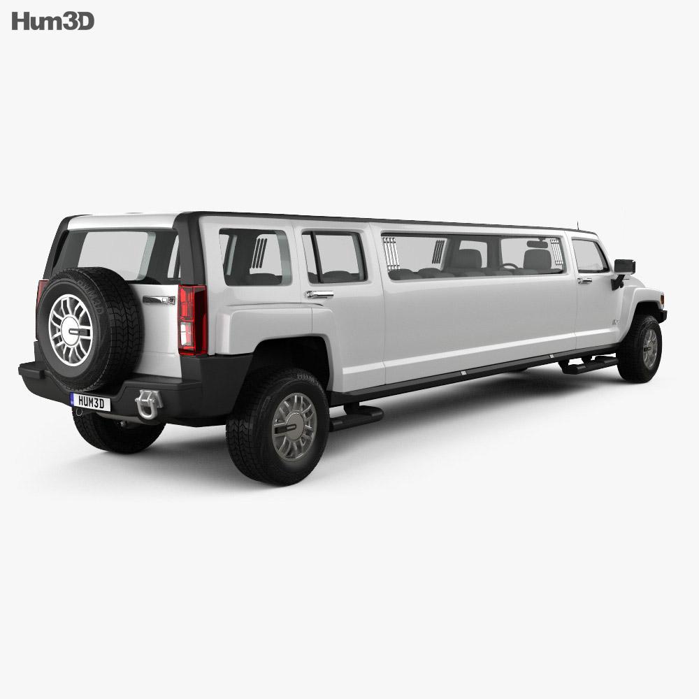 Hummer H3 Limousine 2010 3d model