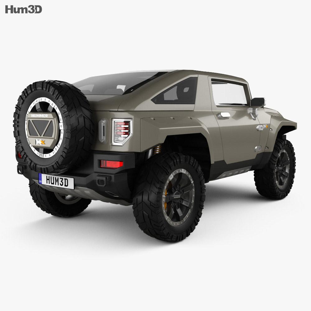 Hummer HX 2008 3d model