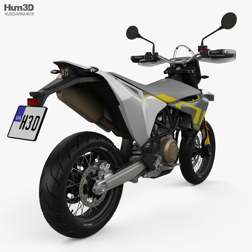 Husqvarna 701 Supermoto 2020 3d model