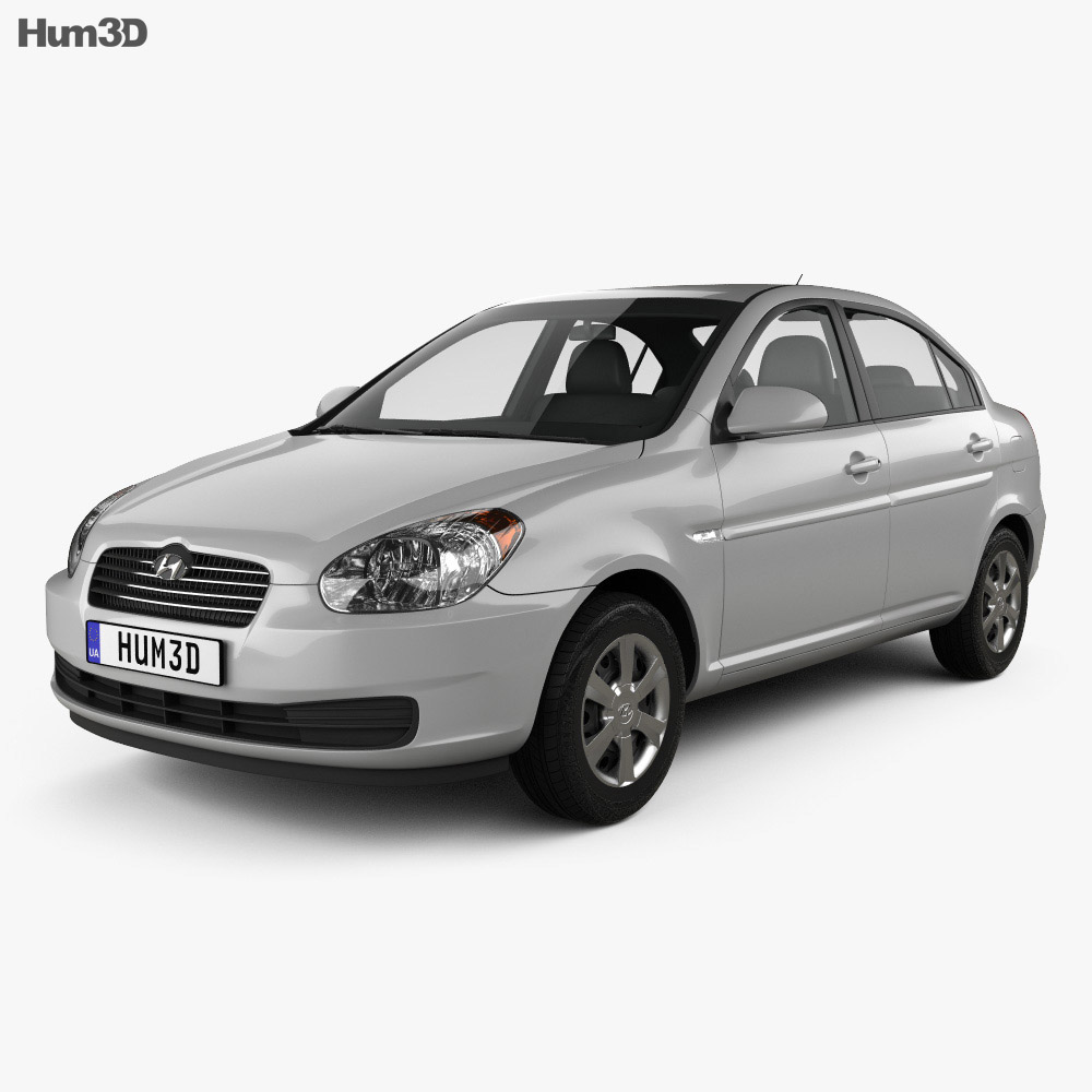 Hyundai Accent (MC) sedan 2006 3d model