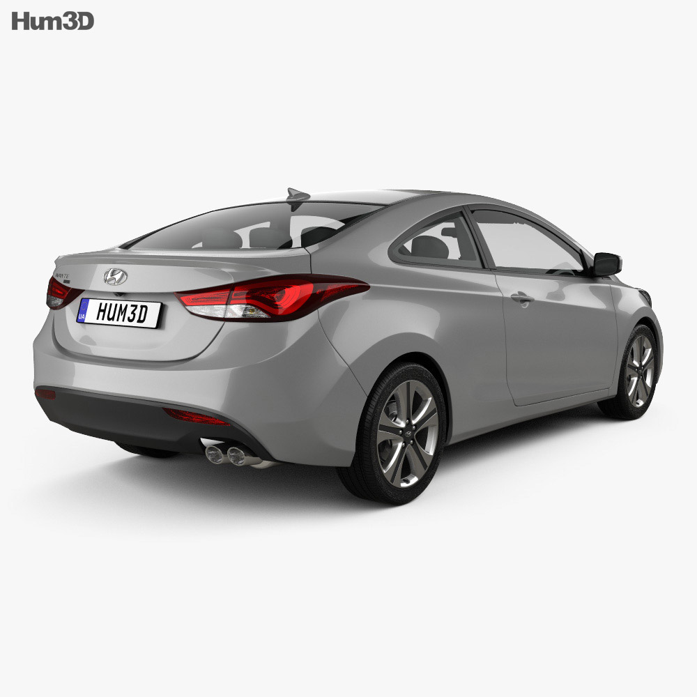 Hyundai Avante (JK) coupe with HQ interior 2014 3d model