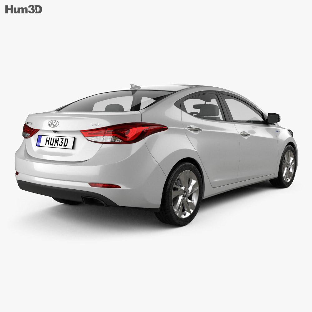 Hyundai Avante sedan 2014 3d model