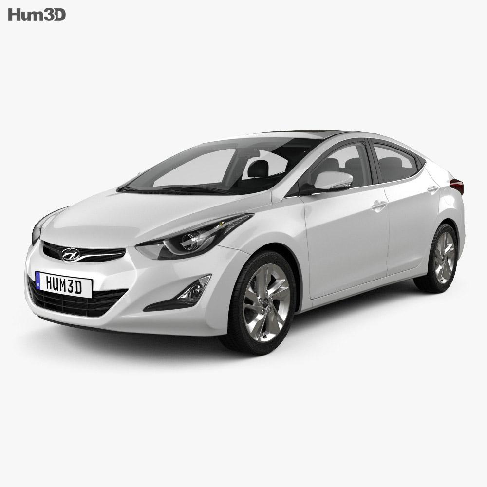 Hyundai Avante Md Sedan With Hq Interior 2014 3d Model