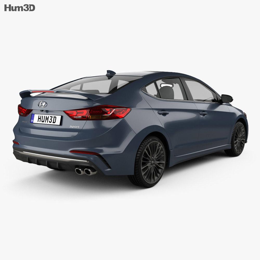 Discount Car Parts >> Hyundai Avante Sport 2017 3D model - Hum3D