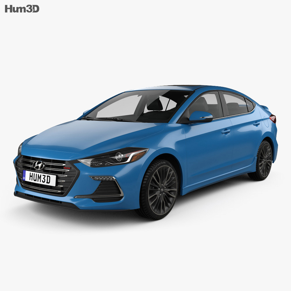 Hyundai Avante Sport with HQ interior 2017 3d model