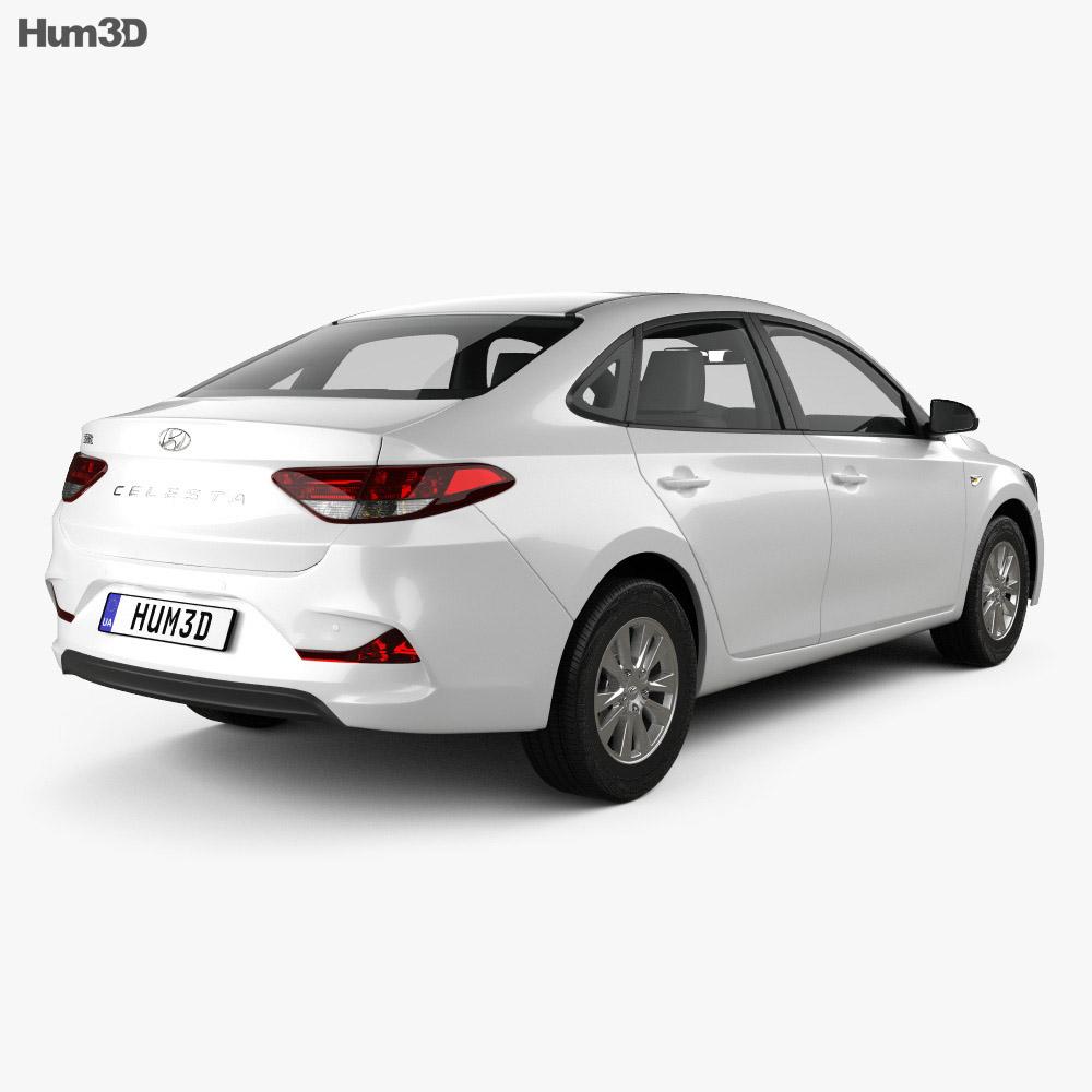 Hyundai Celesta 2018 3d model back view