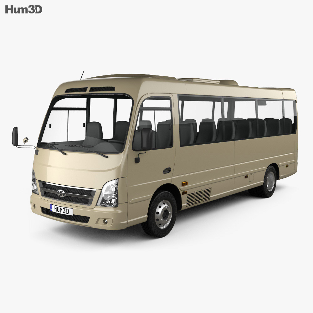 Hyundai County Bus 2018 3d model