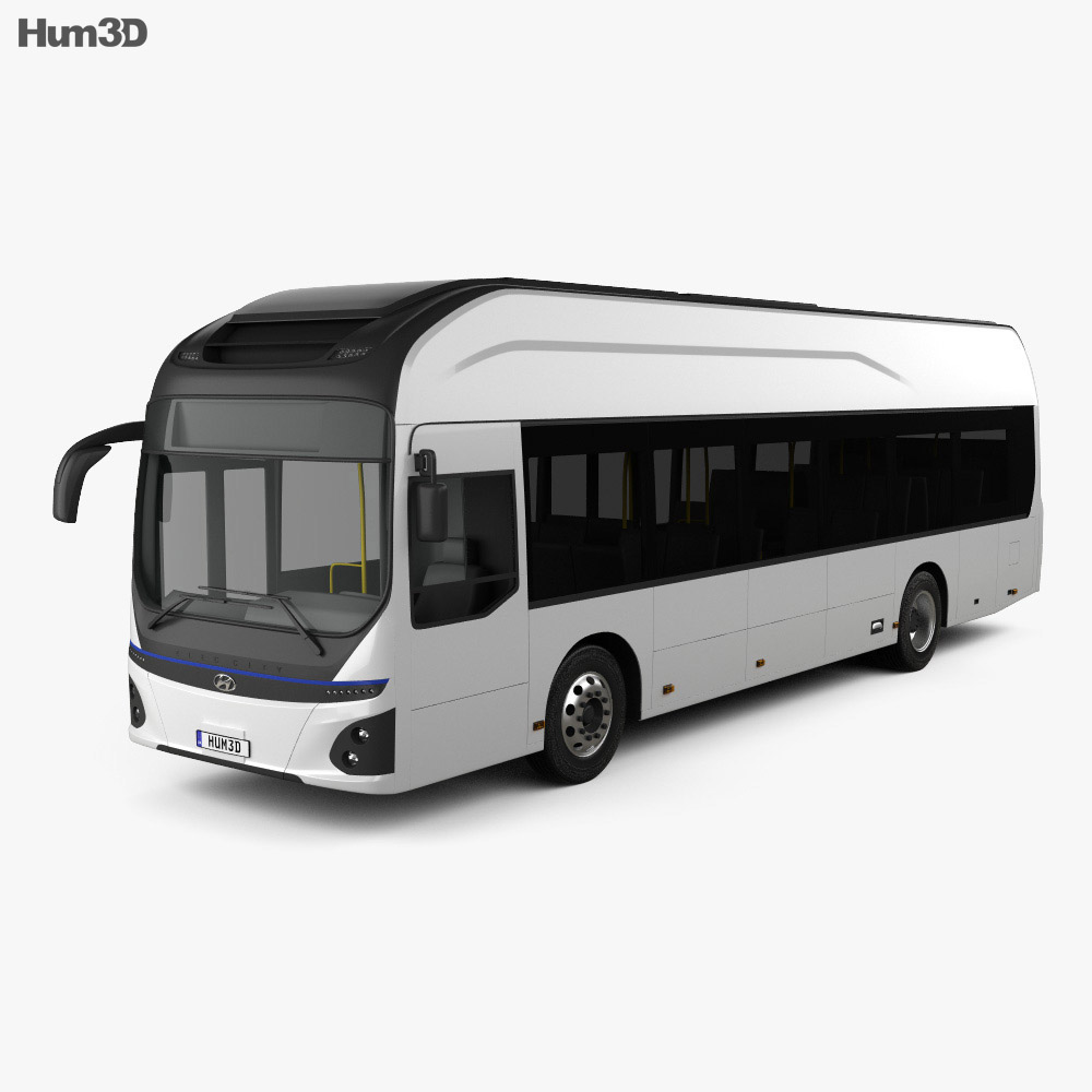 Hyundai ELEC CITY Bus 2017 3d model