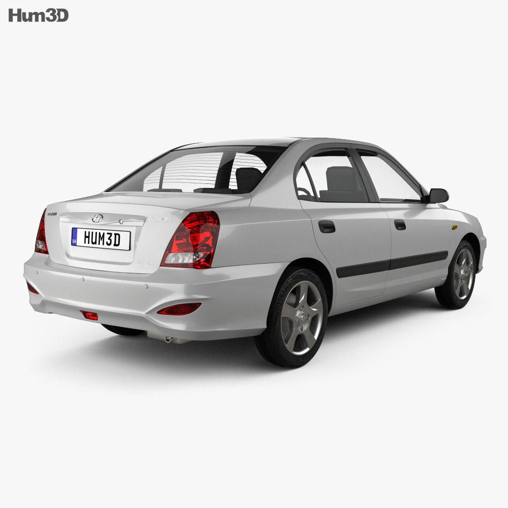 Hyundai Elantra (XD) CN-spec 2010 3d model