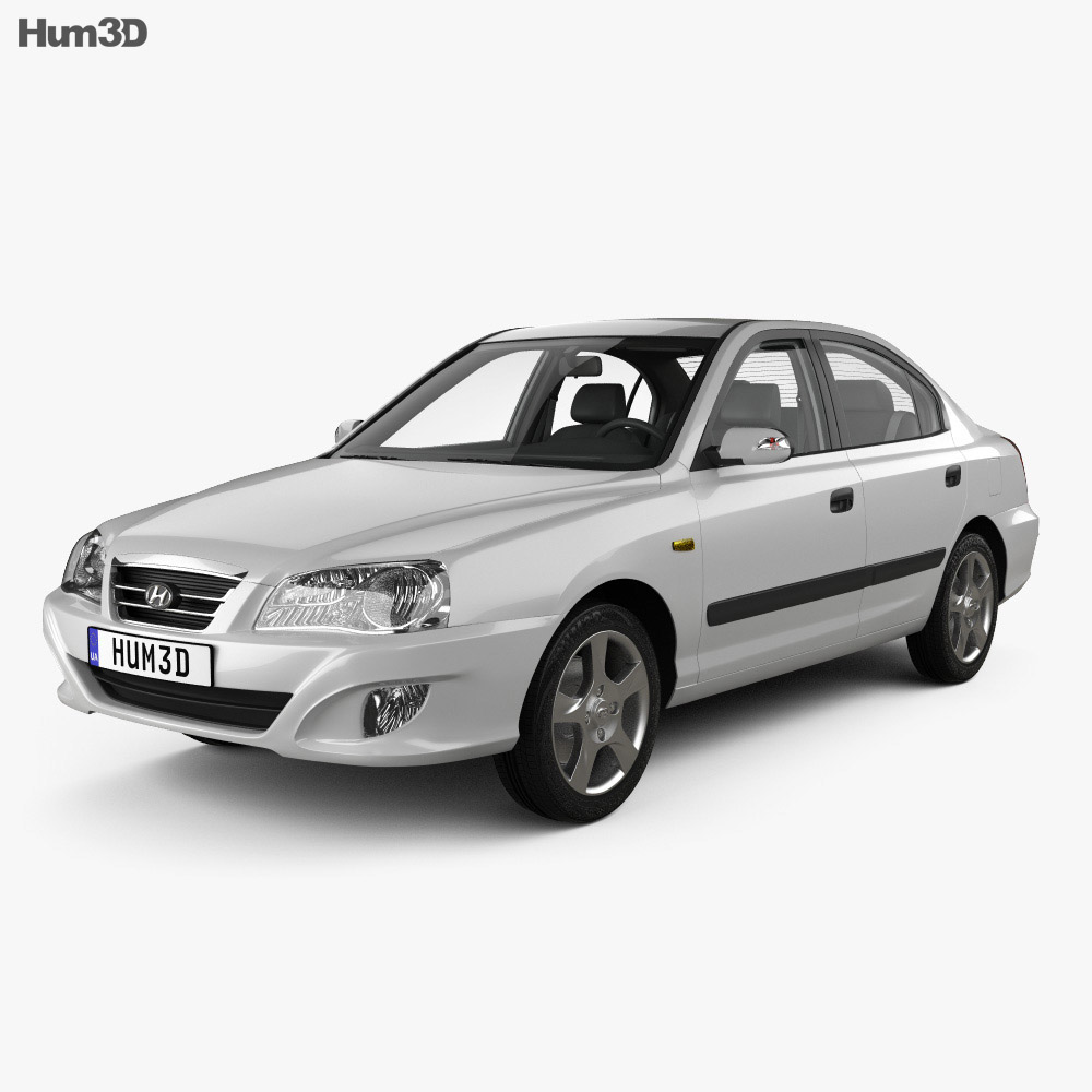 Hyundai Elantra (XD) CN-spec with HQ interior 2010 3d model