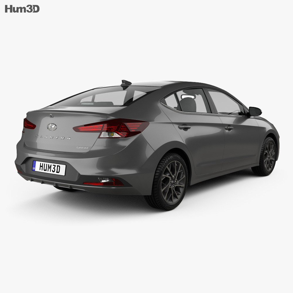 Hyundai Elantra Limited 2019 3d model