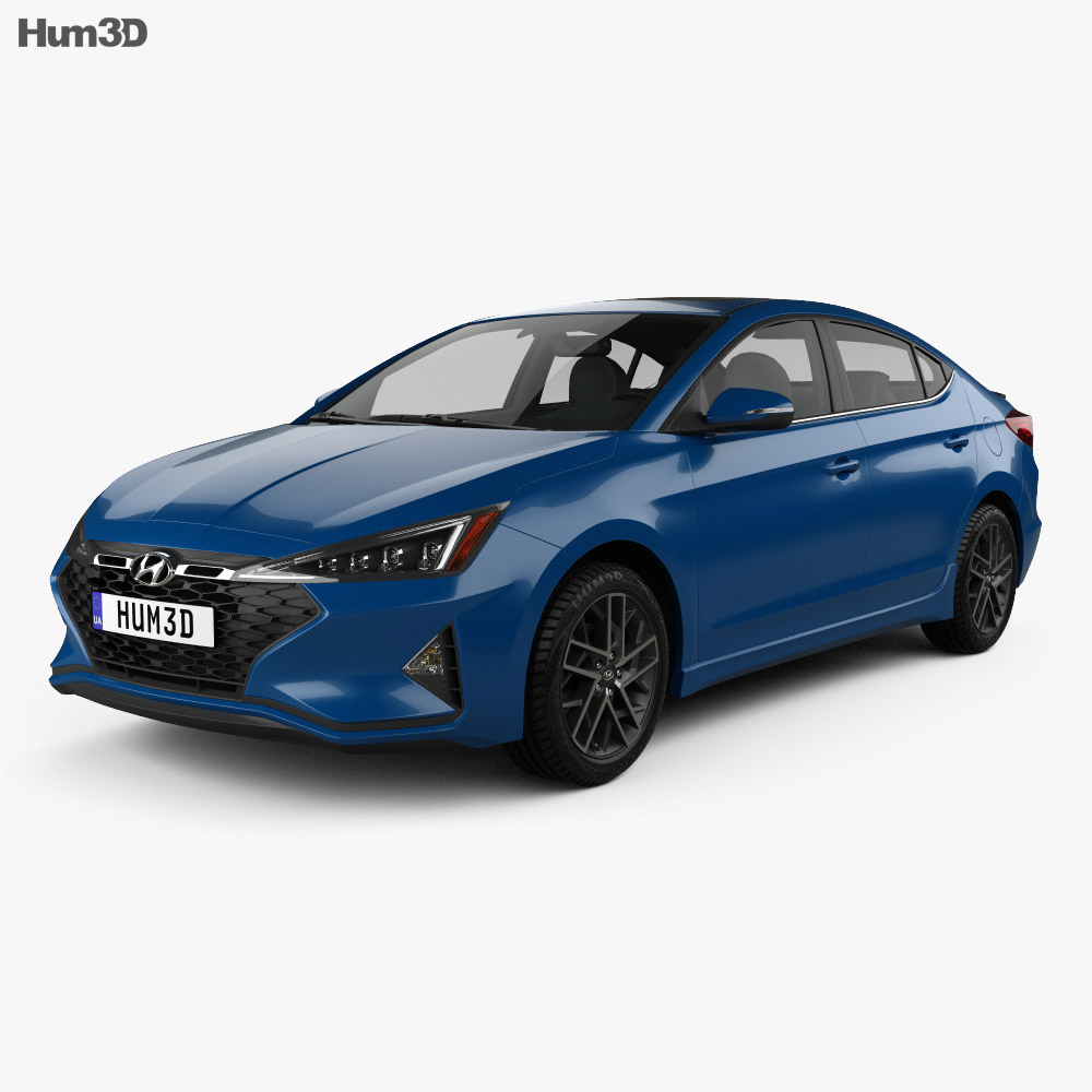 Hyundai Elantra Sport Premium 2019 3d model