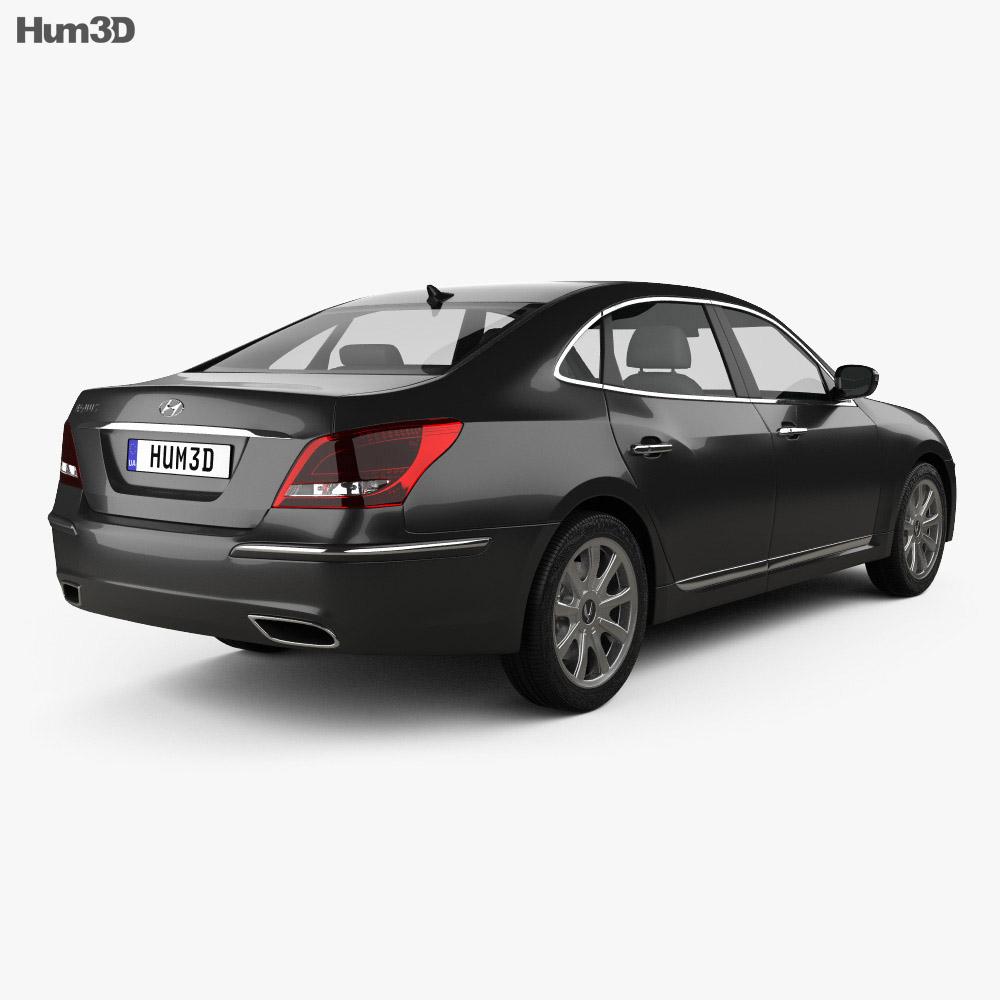 Hyundai Equus (Centennial) 2012 3d model back view