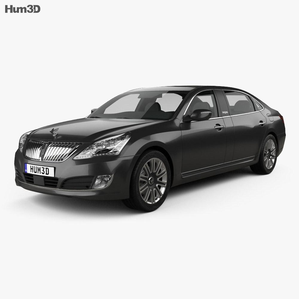 Hyundai Equus limousine 2014 3d model