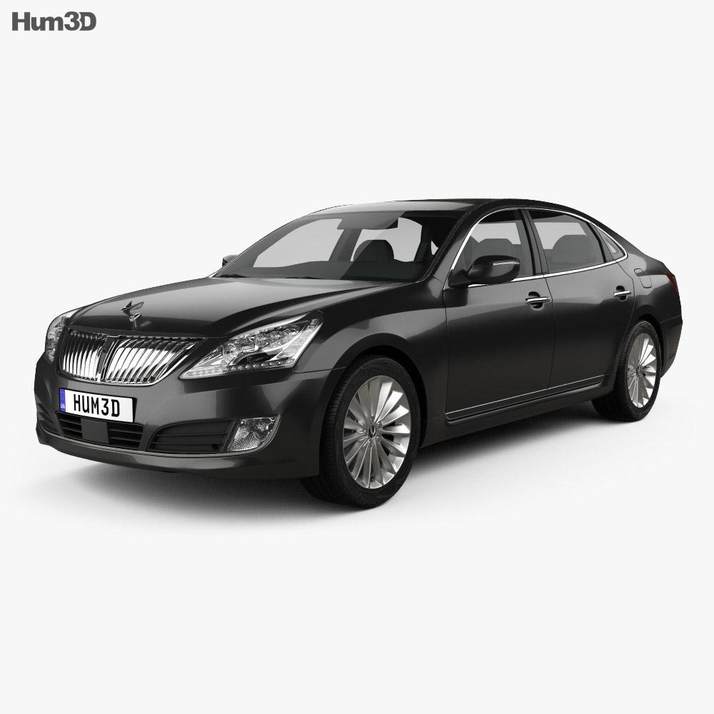 Hyundai Equus sedan 2014 3d model