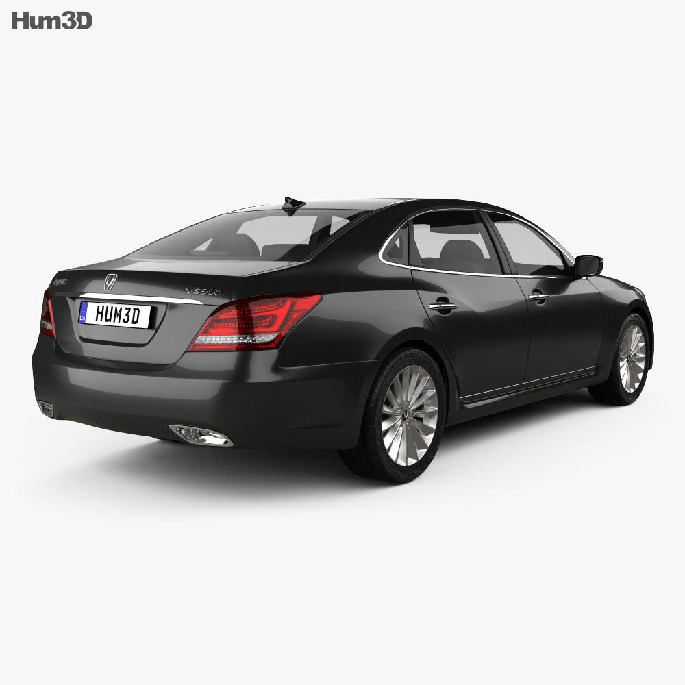 Hyundai Equus sedan 2014 3d model back view