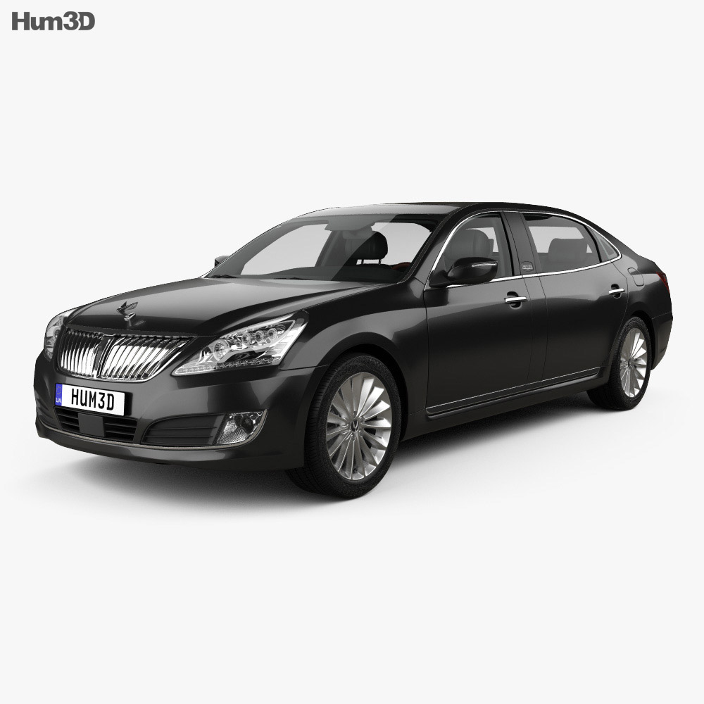 Hyundai Equus (Centennial) limousine with HQ interior 2014 3d model