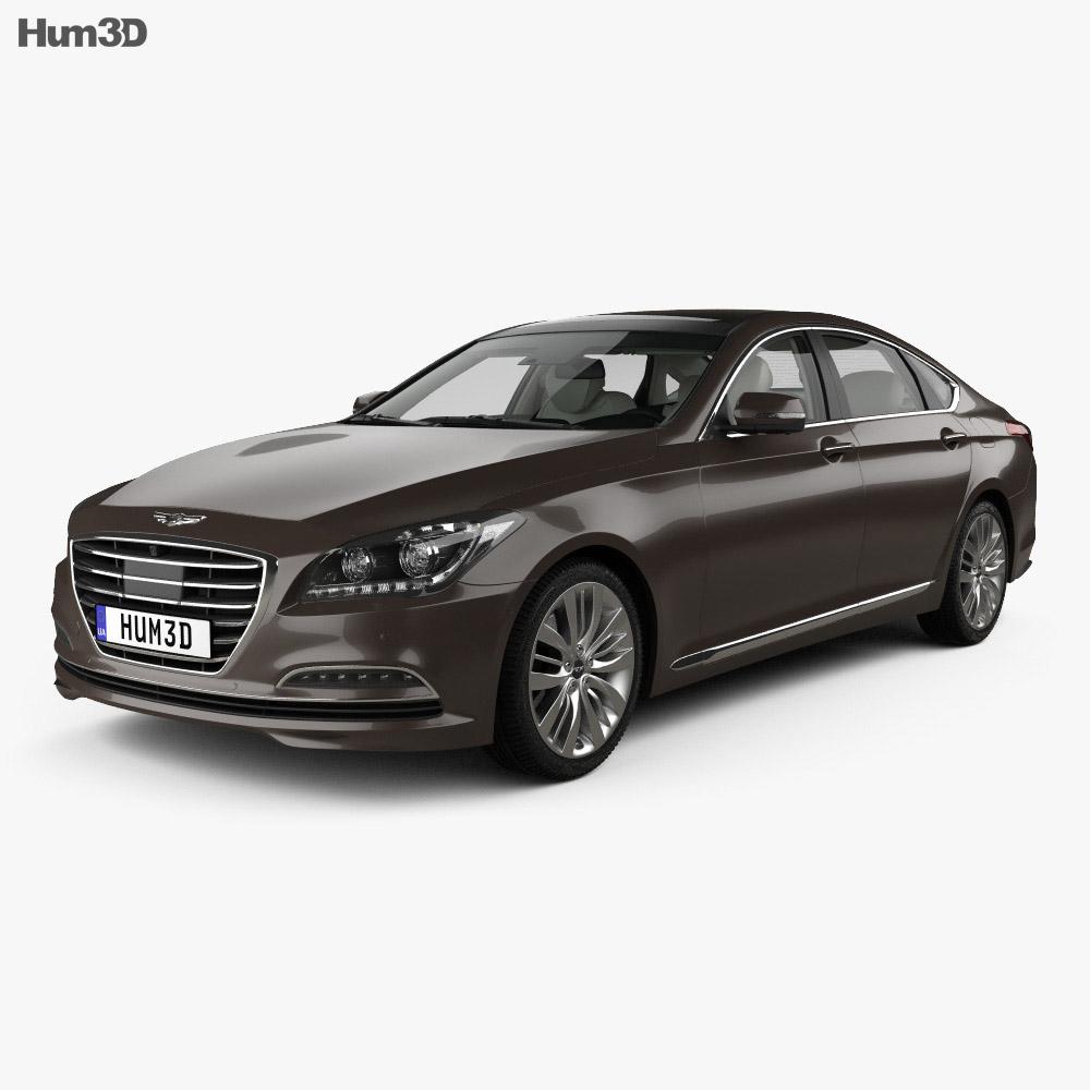 Hyundai Genesis (DH) with HQ interior 2014 3d model