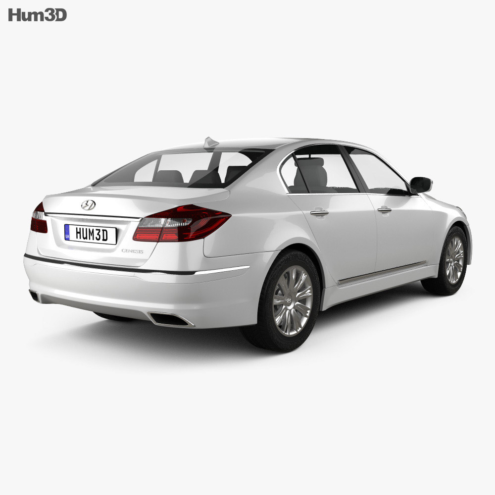 Hyundai Genesis (Rohens) sedan 2012 3d model