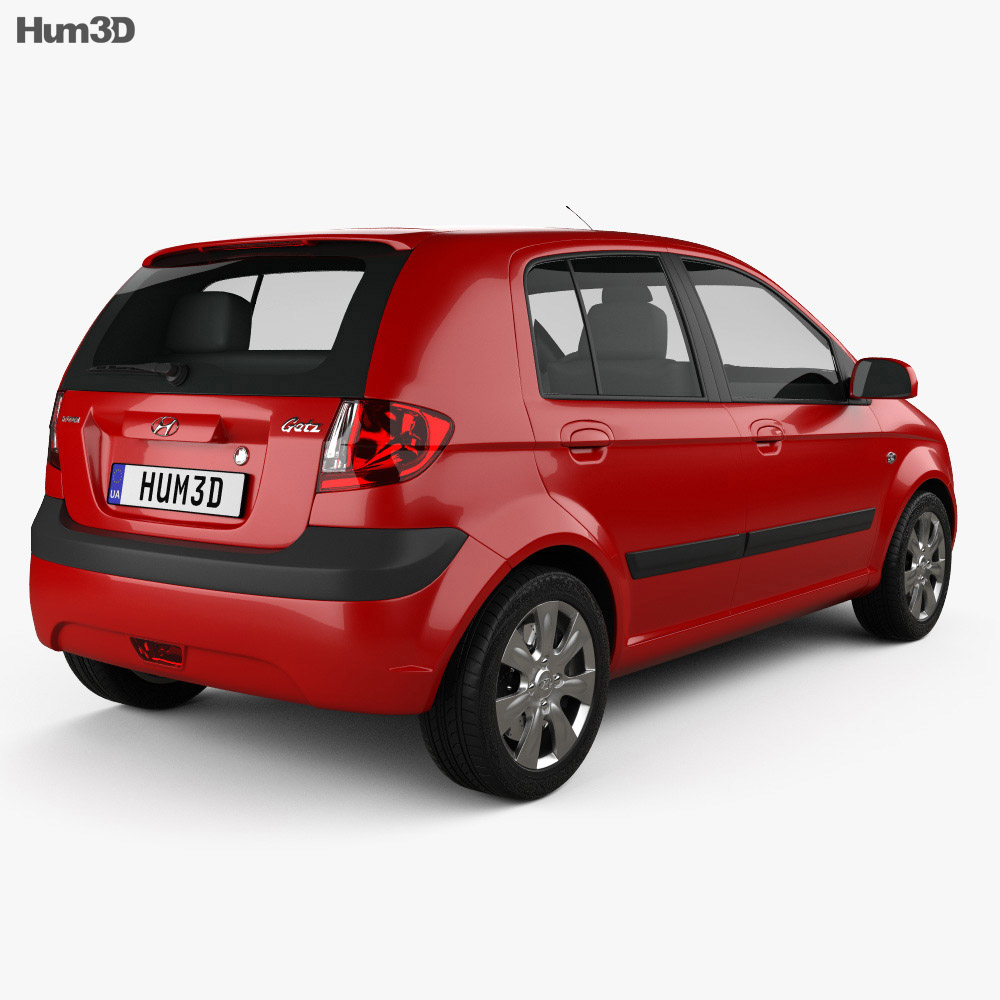 Hyundai Getz 2008 3d model