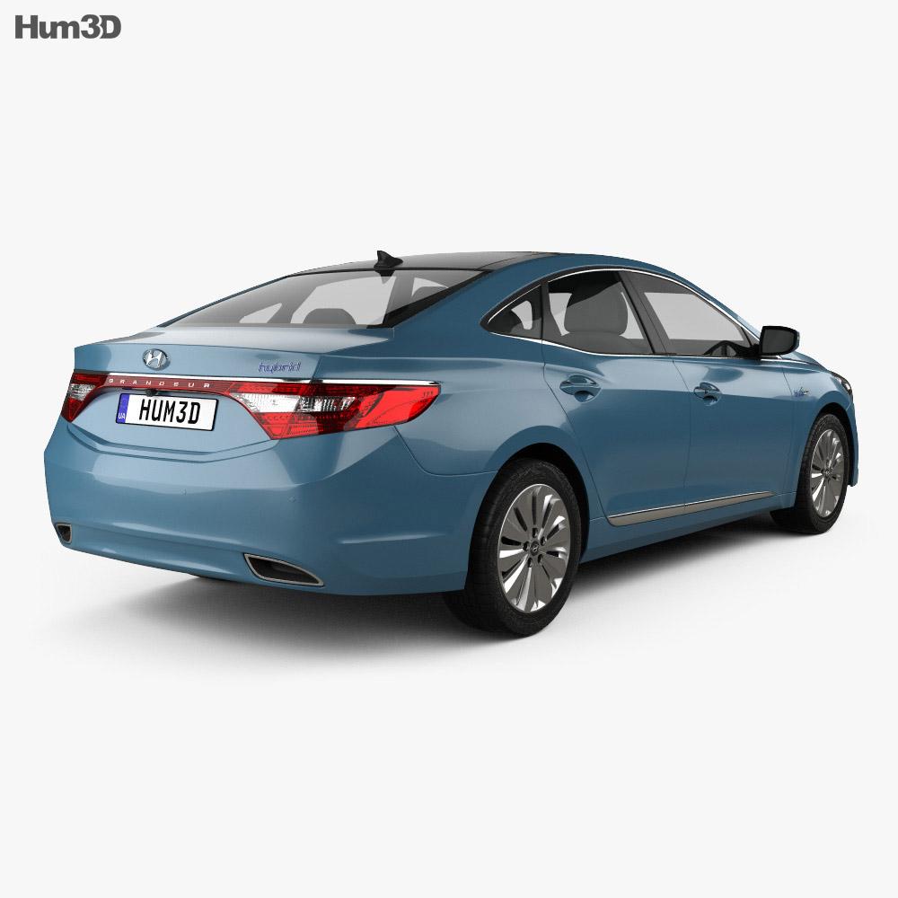 Hyundai Grandeur hybrid 2014 3d model