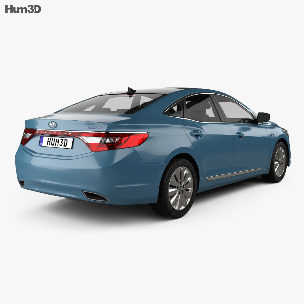 Hyundai Grandeur (HG) Hybrid with HQ interior 2014 3d model