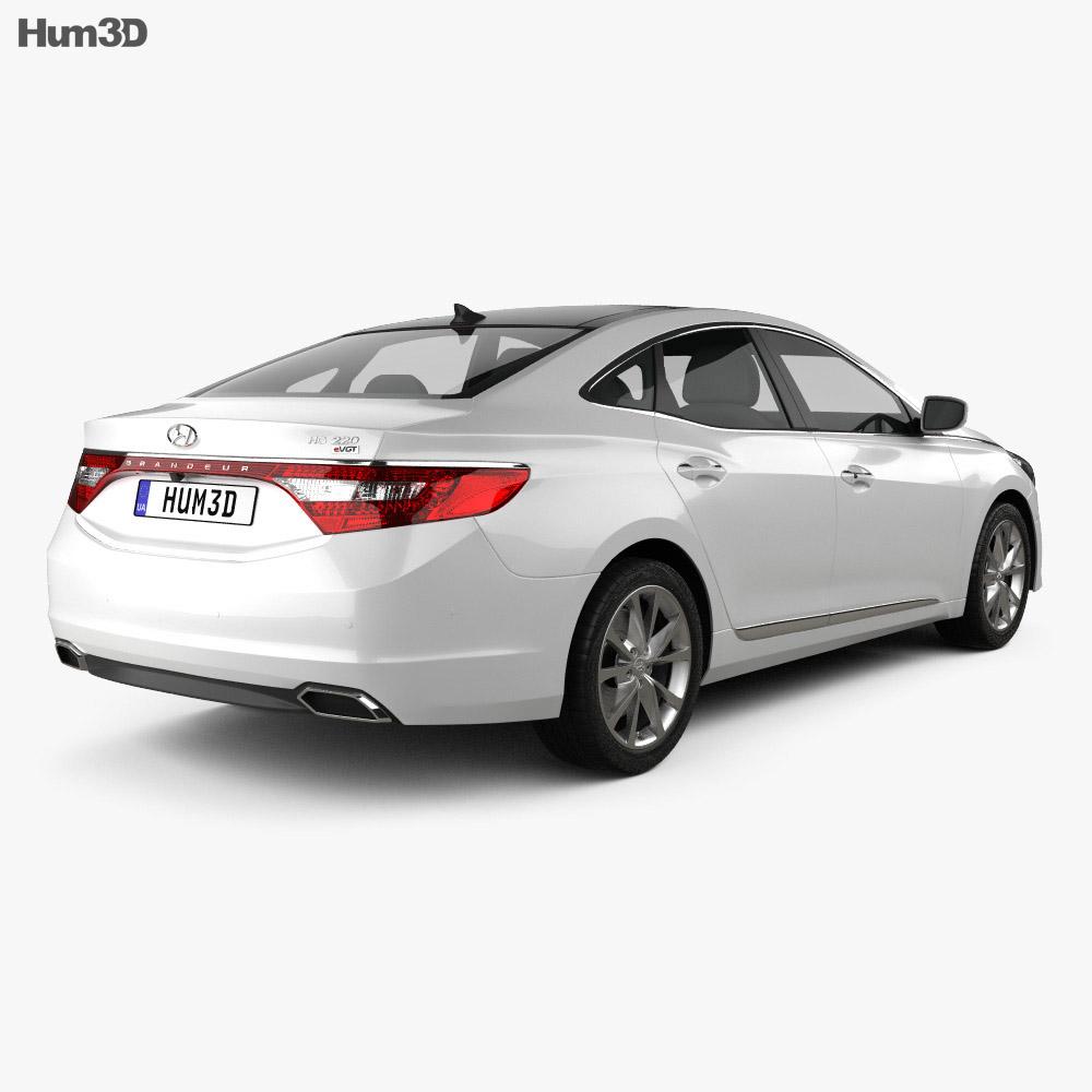 Hyundai Grandeur 2014 3d model