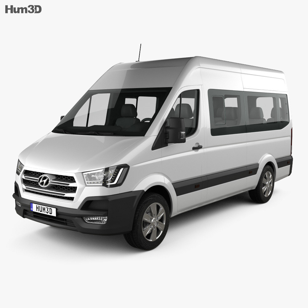 Hyundai H350 Passenger Van 2015 3d Model Vehicles On Hum3d