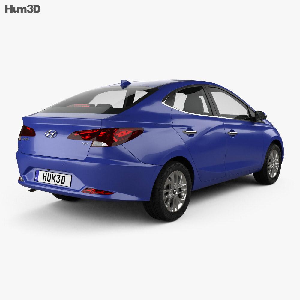 Hyundai HB20 S 2019 3d model back view