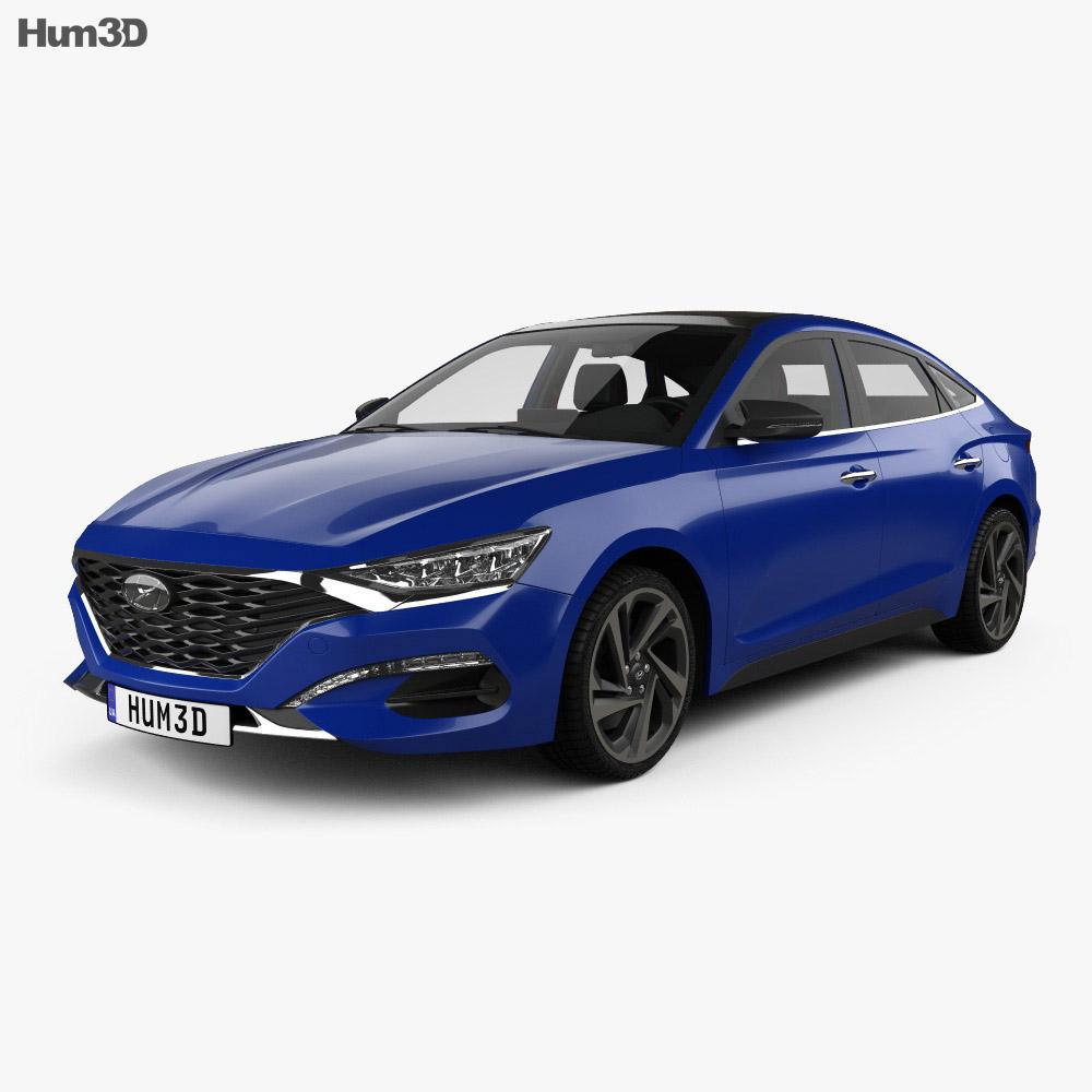 Hyundai Lafesta with HQ interior 2018 3d model
