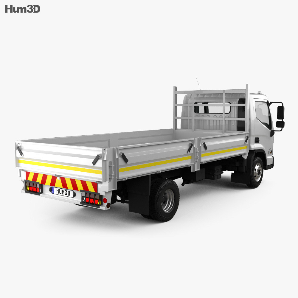 Hyundai Mighty EX8 Flatbed Truck 2018 3d model