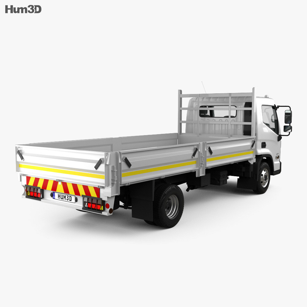 Hyundai Mighty EX8 Flatbed Truck with HQ interior and engine 2018 3d model